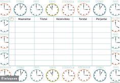 Koulu alkaa! Tulosta koululaiselle Time-lukujärjestys - Inspiroidu - Familon