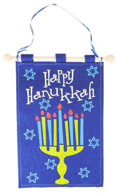 "Felt ""Happy Hanukkah"" Flag Decoration"