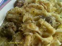 Sally Grosserode's sauerkraut, noodles and Polish sausage recipe. Noodle Recipes, Pasta Recipes, Polish Sausage Recipes, Sausage Sauerkraut, Main Meals, Pasta Dishes, Macaroni And Cheese, Noodles, Main Dishes