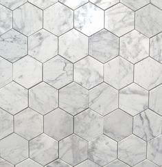Bianco Carrara 3 Polished Hexagon MarbleTiles traditional floor tiles