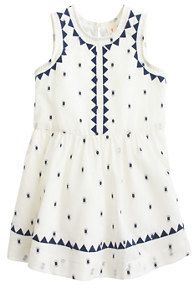 baby dress in embroidered triangle dot | crewcuts