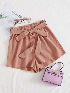 ((Affiliate Link)) Description Style:	Boho Color:	Pink Pattern Type:	Plain Details:	Belted, Paper Bag Waist Type:	Wide Leg Season:	Summer Composition:	100% Cotton Material:	Cotton Fabric:	Non-stretch Sheer:	No Fit Type:	Loose Waist Type:	High Waist Closure Type:	Elastic Waist Belt:	Yes