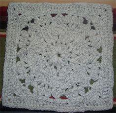 Snowflake Swirl Square