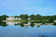 On a gorgeous day like today, it seems like a leafy view of Kennebunkport's harbor is around the corner!