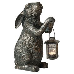 Free delivery over to most of the UK ✓ Great Selection ✓ Excellent customer service ✓ Find everything for a beautiful home Paper Mache Sculpture, Garden Sculpture, Sculptures, Lion Sculpture, Garden Statues, Rabbit Art, Vintage Easter, Beautiful Gardens, Garden Design