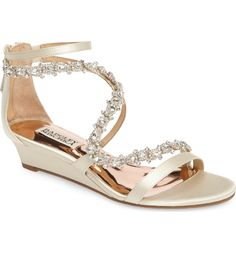 7f3836dac06a24 Badgley Mischka Belvedere Embellished Wedge Sandal (Women)