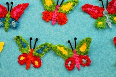 tissue paper butterflies