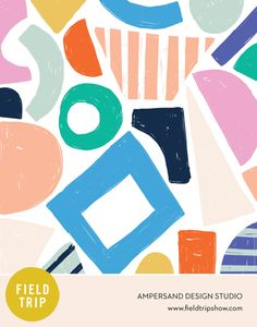print & pattern: FIELD TRIP 2018 - pattern and illustration show Abstract Shapes, Abstract Pattern, Graphic Patterns, Print Patterns, Pattern Illustration, Illustrations, Surface Pattern Design, Textures Patterns, Branding