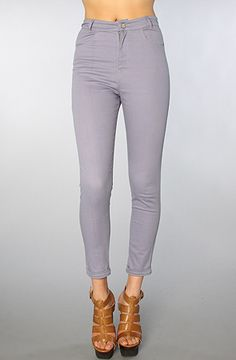 The Jodie Cropped Skinny Jean in Plain Lilac by Motel #missKL #winyourpin