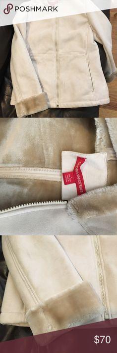 Gloria Vanderbilt suede-look winter coat Gorgeous suede look coat with super soft lining. Worn once. Looks brand new. Gloria Vanderbilt Jackets & Coats Pea Coats