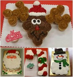 HOW TO MAKE CHRISTMAS PULL-APART CUPCAKES...for Christmas!! These are such cute ideas! http://thewhoot.com.au/whoot-news/recipes/christmas-pull-apart-cupcakes