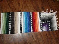 New Native Southwestern Mexican Falsa Blanket Western Table Runner 14x86 Multi 2 | eBay