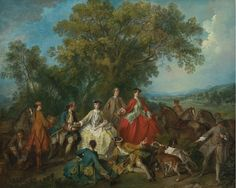 Descanso en una jornada de caza en Versalles