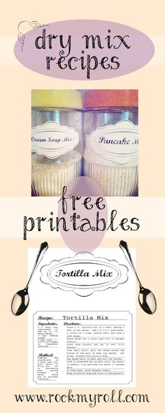 Free Kitchen Pantry Dry mixes - Printables from rockMYroll