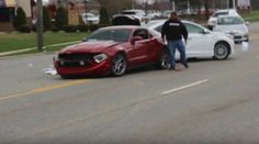 Mustang Crashes Leaving Cars and Coffee Chicago!