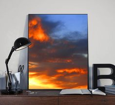 #11x14 #Print, #Sunset #Photography, #Printable, #Minimalist #Print, #Sky #Overlay #Photography, #Cloud, #Dramatic #Sky, #Sunset #Sunrise #Clouds #SunsetPrint, #FireSky, #WallArt #OfficeDecor #OfficeArt #Interior #Decor #JuliaApostolova #Etsy #Etsygifts #gifts