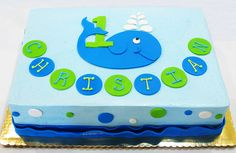 Whale First Birthday