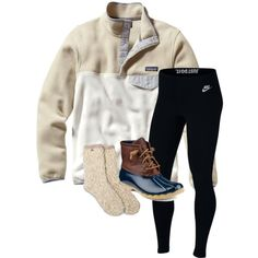 Feb 2020 - A fashion look from March 2018 by lhnlila featuring Patagonia, NIKE and Sperry Cute Outfits With Leggings, Cute Lazy Outfits, Teenage Girl Outfits, Cute Winter Outfits, Sporty Outfits, Teenager Outfits, Teen Fashion Outfits, Outfits For Teens, Simple Outfits For School