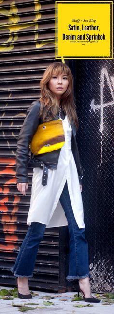 Satin, Leather, Denim and Springbok | MaQ + Suz Blog | www.suzannespiegoski.com