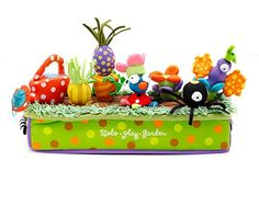 Love the idea of gifting a brightly colored play garden. Good for teaching colors and food names.