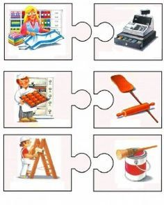 This page has a lot of free easy Community helper puzzle for kids,parents and preschool teachers. Puzzle Frame, Learn Greek, Community Helpers, Community Workers, Class Decoration, Teaching Jobs, Speech Therapy Activities, Puzzles For Kids, Early Childhood Education