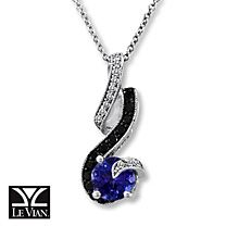 Le Vian® 14K Gold Diamond & Blueberry Tanzanite™ Necklace