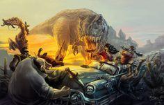 Cadillacs and Dinosaurs Comic | Cadillacs and Dinosaurs by Brolken