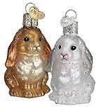 Pretty glass rabbit ornaments - nice for an Easter tree