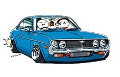 """CRAZY CAR ART """"RX-4"""" owned by Mr.Crawford. original characters """"mame mame rock"""" / © ozizo Official web shop """"STAY CRAZY (in Society6)"""" Official web shop """"ozizo(in Redbubble)"""" """"Crazy Car Art"""" Line stickers """"Crazy car Art"""" Telegram stickers"""