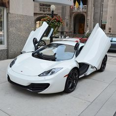 Gorgeous White McLaren MP4 12C