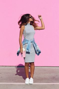 Bodycon Dress Outfit Ideas You'll Want To Wear All Summer Celebrity Fashion Outfit Trends And Beauty Tips Mode Outfits, Dress Outfits, Casual Dresses, Casual Outfits, Fashion Outfits, Womens Fashion, 2000s Fashion, Moda Fashion, Pink Bodycon Dresses