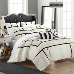 found it at allmodern tuscan 7 piece comforter set black comforter setsqueen bedding