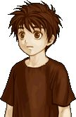 This is Ike as a kid. Now, I'm confused. Did he dye his hair blue...or did it change over time since his mom's hair color was blue? ANd if this is the case, does that mean Mist's hair was once blue?