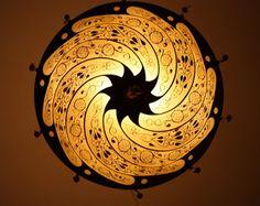 Fortuny silk lamp