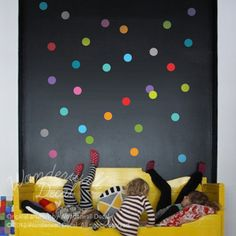 NEW Colorful Polka Dots Wall Decal - wallpaper- Removable Wall Sticker - suitable for baby, kids room, nursery on Etsy, $28.00