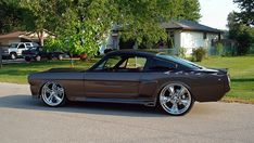 Foose Nitrous Wheels on a custom Mustang.