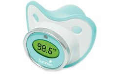 Take your baby's temperature without disturbing their sleep with the Pacifier Thermometer.   31 Ingenious Products That Will Make Parenting So Much Easier