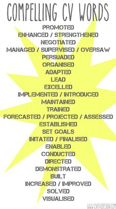 Compelling CV Words