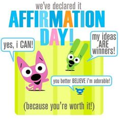 Hoops and Yoyo- Affirmation Day! Witty Quotes, Best Quotes, Inspirational Quotes, Hoops And Yoyo, Mental Health Quotes, Happy Dance, Live Laugh Love, Fun At Work, Funny Cartoons