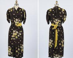 1930s silk dress/ medium by shopKLAD on Etsy