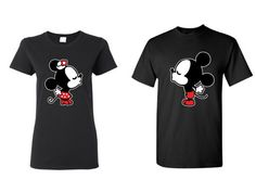 Mickey and Minnie Inspired Couples T-shirts by CustomStylesLB