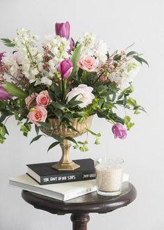 DIY Footed Gold Flower Vase   Confetti