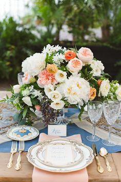 déco table idée centre de table floral déco fleurs