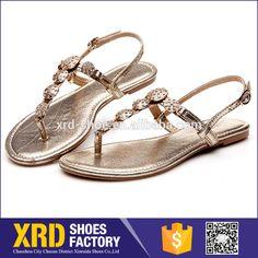 Comfortable lady flat pu sandal/leather sandal /wholesale woman sandal