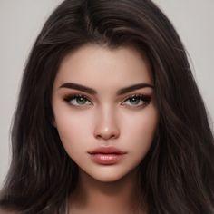 Artbreeder Digital Art Girl, Digital Portrait, Portrait Art, Book Aesthetic, Character Aesthetic, Girl Face, Woman Face, Character Portraits, Character Art