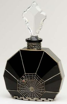 Goth:  #Goth ~ spiderweb perfume bottle.