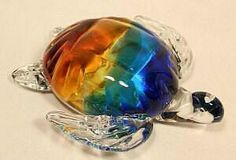 Glass Sea Turtle Sculpture by Dynasty at Art Glass by Gary Gallery