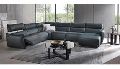 The Tuscany is a super comfy modular sofa that has a unique electric recliner head rest that can be set at different heights. A great design for those wanting a relaxed informal sofa to recline in. It is available in range of Italian Leathers or fabrics.