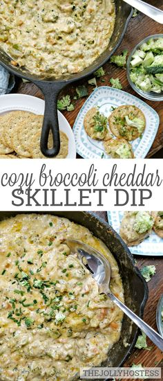 Broccoli Cheddar Dip is a one skillet dip composed of broccoli, carrots, chives and LOADS of cheesy cheddar. Dip Recipes, Great Recipes, Favorite Recipes, Skillet Recipes, Party Recipes, Recipies, Snack Recipes, Yummy Appetizers, Appetizer Recipes