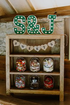 Sweet stand at a rustic wedding at the Tythe Barn in Oxfordshire. Kids Table Wedding, Wedding Candy Table, Wedding Sweets, Wedding With Kids, Wedding Tables, Wedding Sweet Cart, Cute Wedding Ideas, Wedding Inspiration, Guest Book Table